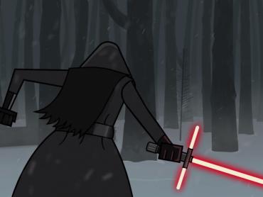 まるでライトセーバーのバーゲンセールだな…ファンが作った「十字型ライトセーバー」ネタアニメ