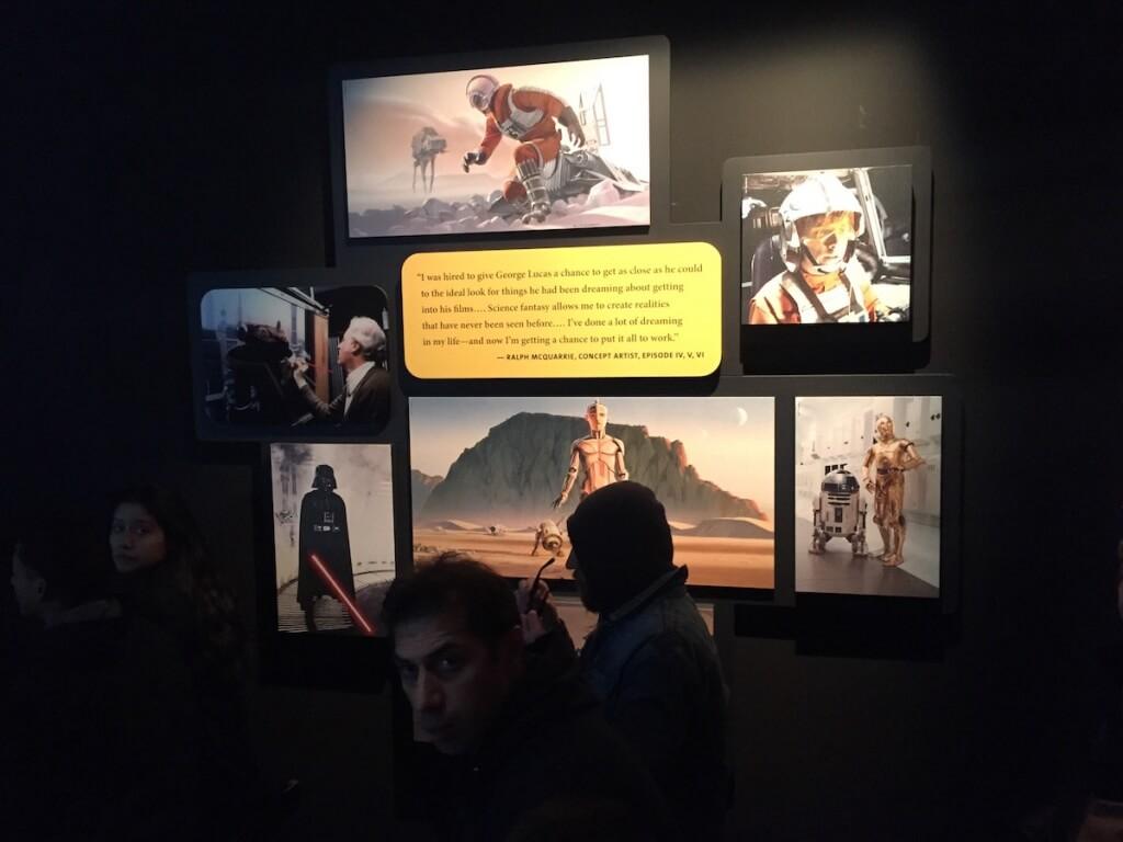 スターウォーズエキシビション 壁面展示物