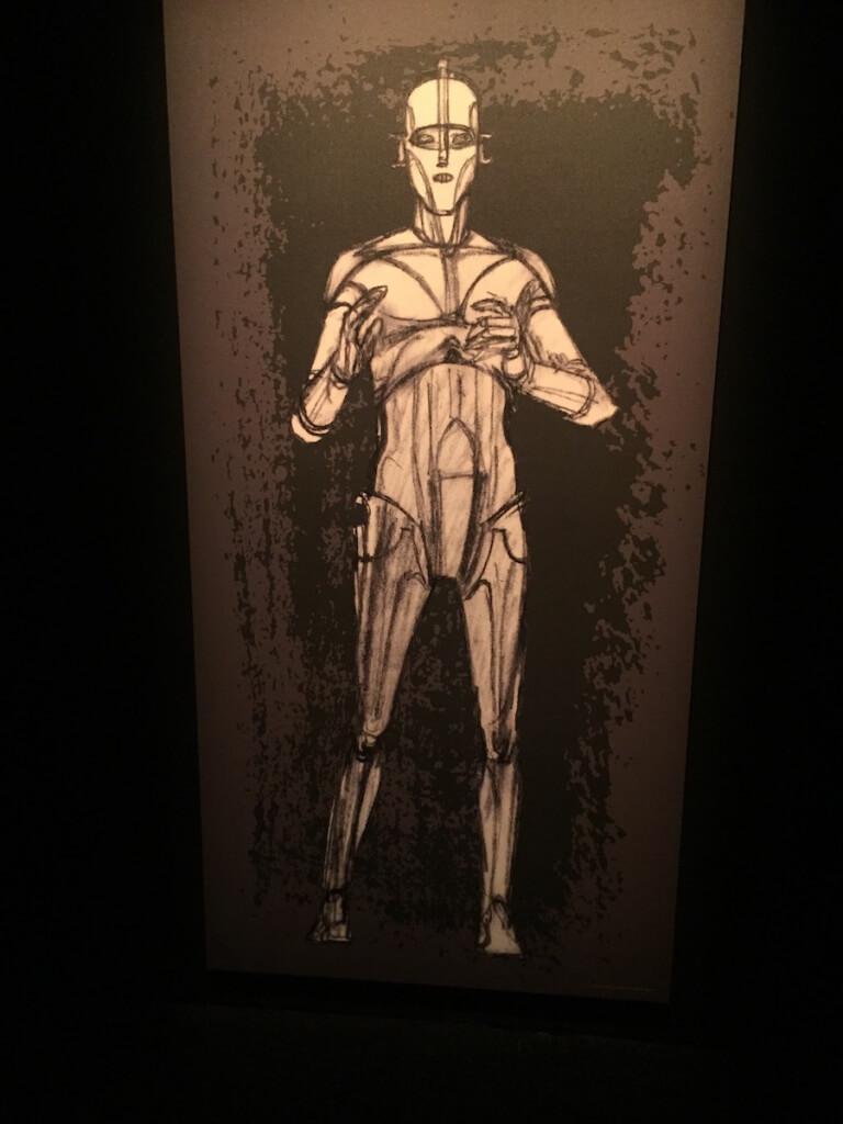 C-3POの初期スケッチ