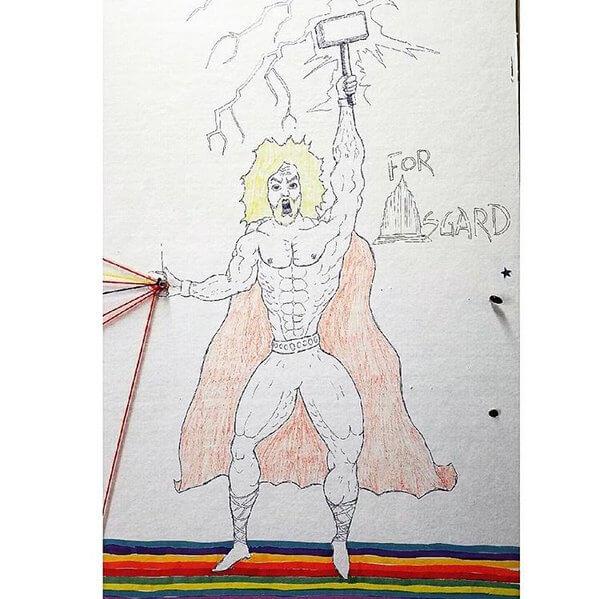クリス・ヘムズワースの描いたソー