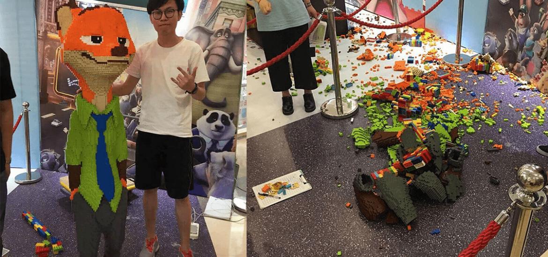 ズートピアの巨大LEGO(160万円相当)公開数十分で子供に破壊される -中国