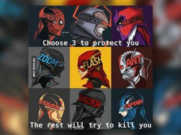 【夢の乱闘】この9人の中から3人の守護ヒーローを選べ!残りの6人があなたを殺しにかかる