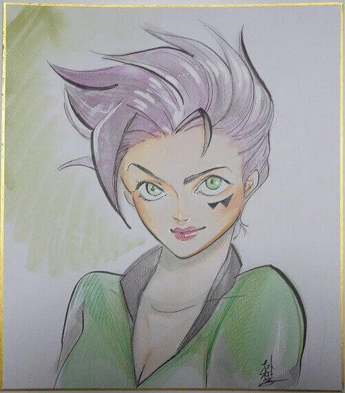国内外で活躍目覚ましい桃(ピーチ)桃子のソラニク・ナチュに描いてもらったシネストロの娘ソラニク・ナチュ