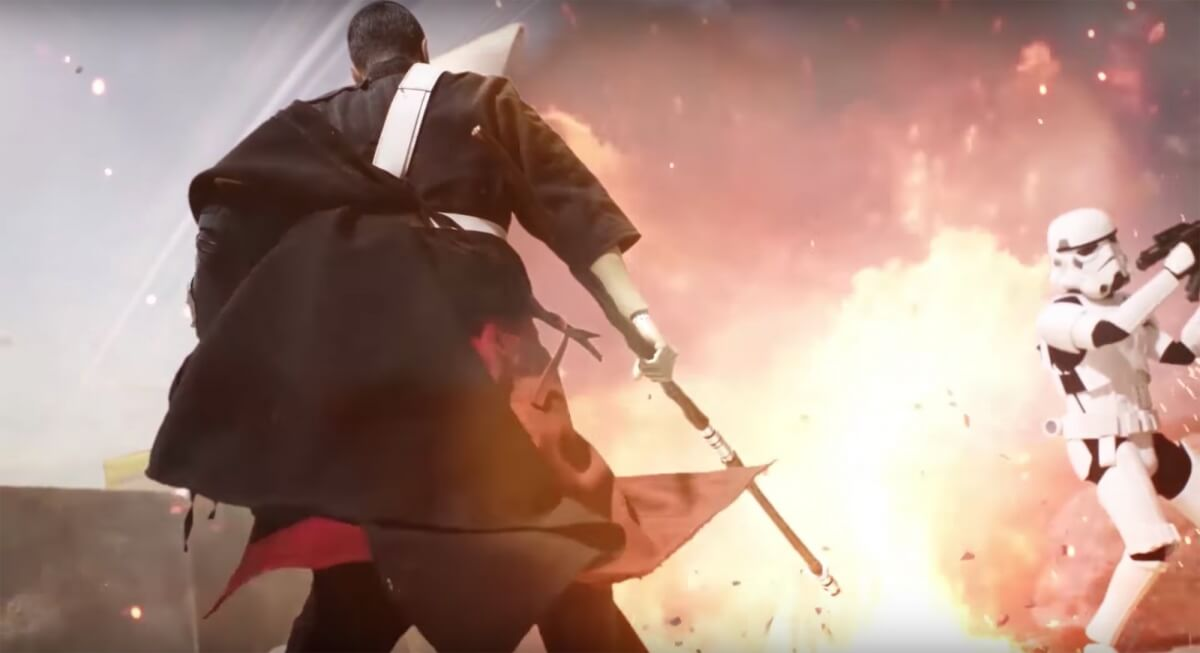 Chirrut Îmwe VS Stormtroopers Stop Motion Video