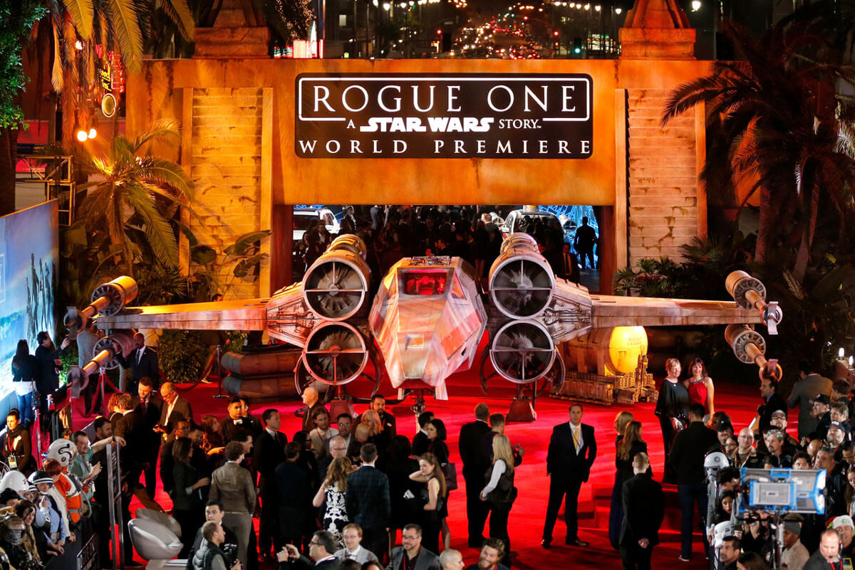 (Photo by Rich Polk/Getty Images for Disney) http://www.comingsoon.net/movies/news/794007-rogue-one-world-premiere-and-after-party-photos