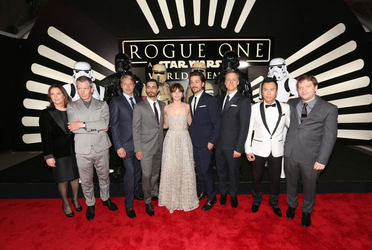 (Photo by Jesse Grant/Getty Images for Disney) http://www.comingsoon.net/movies/news/794007-rogue-one-world-premiere-and-after-party-photos