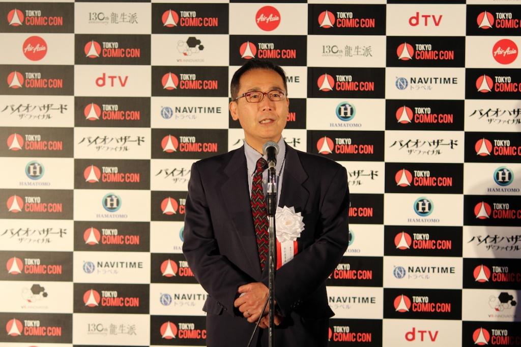 東京コミコンの実行委員である胸組氏によるあいさつ