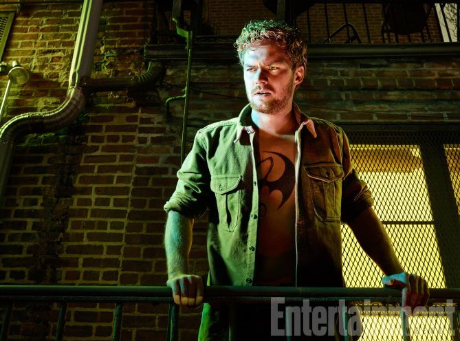 The Defenders, Finn Jones (as Iron Fist), photographed for Entertainment Weekly on December 10th, 2016, by Finlay Mackay in Brooklyn, New York. Costume Designer: Stephanie Maslansky, Wardrobe Supervisor: Pahelle Latino, Makeup Head: Sarit Klein, Key Makeup Artist: Kaela Dobson, Hair Department Head: Pamela May, FX Makeup: Brian Spears, Prop Stylist: Charlot Malmlof