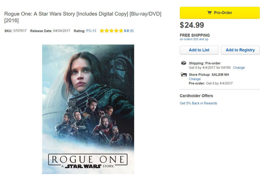 http://www.starwarsnewsnet.com/2017/02/rogue-one-blu-ray-available-for-pre-order-for-an-april-4-release.html