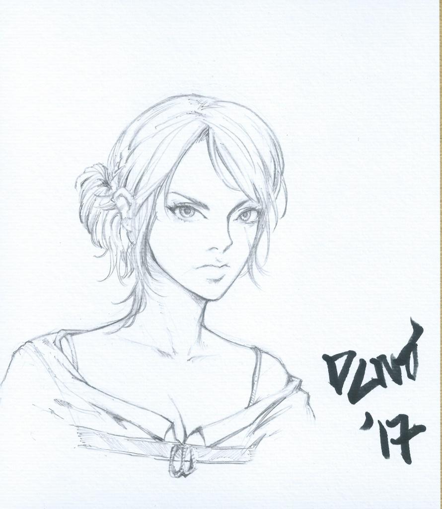 コミックだけでなくゲームのキャラも自分だけの絵をゲットできます。こちらは名作ゲーム『Witcher3』のシリ。一周目は家に居着いてくれるENDでした、やったぜ!!
