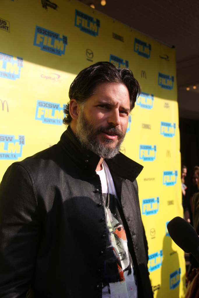 Joe Manganiello at the Premiere of Pee-Wee's Big Holiday during SXSW 2016 / Daniel Benavides ( https://www.flickr.com/photos/relevantwriter/25752717202/ )