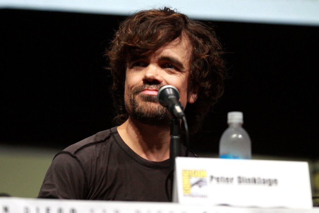 "Peter Dinklage speaking at the 2013 San Diego Comic Con International, for ""Game of Thrones"", at the San Diego Convention Center in San Diego, California. / Photo by Gage Skidmore ( https://www.flickr.com/photos/gageskidmore/9350749118/ )"