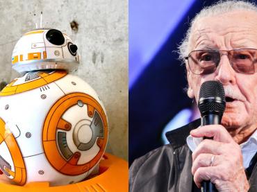 『スター・ウォーズ』BB-8に、マーベルの生ける伝説スタン・リーが出会った