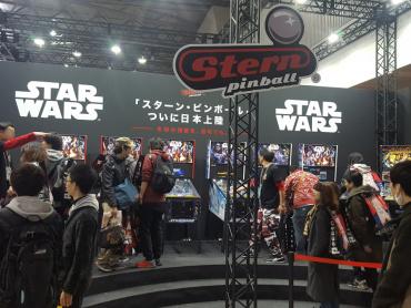 【東京コミコン2017】スター・ウォーズなど人気台登場「スターン・ピンボール」 ― 今後日本上陸、俳優カール・アーバンもプレイ!