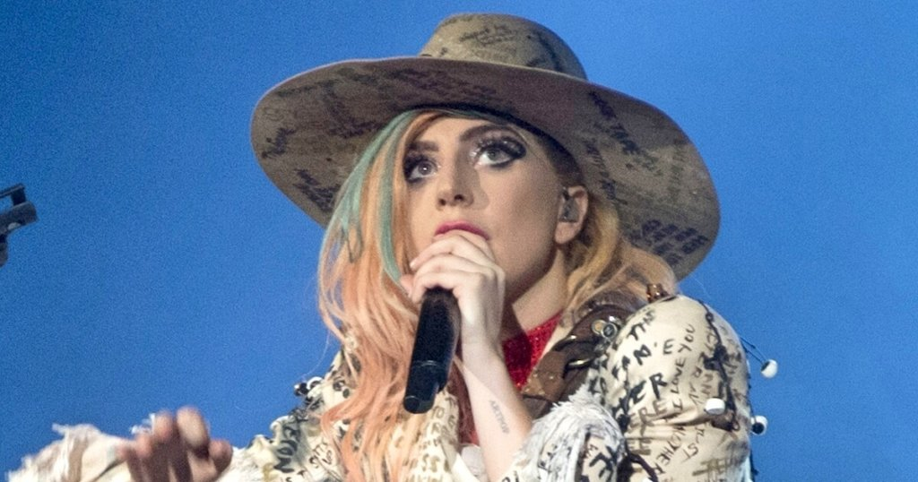 """Lady Gaga performing """"Joanne"""" on the Joanne World Tour"""