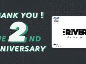 THE RIVER2周年記念!オリジナルQUOカードを10名様にプレゼント