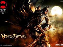 『ニンジャバットマン』プライム1スタジオより堂々立体化 ─ 忍者装束を完全再現のバットマン、天守閣に佇む