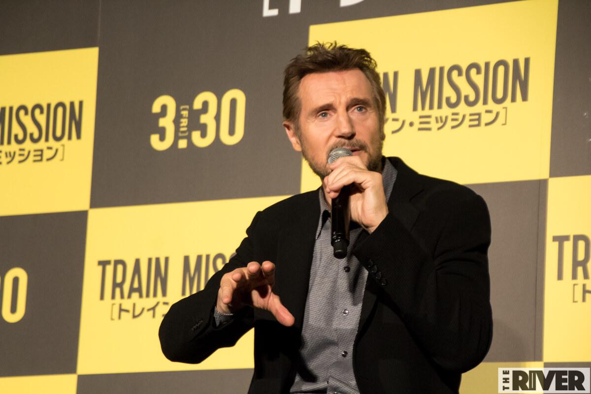 映画『トレイン・ミッション』ジャパン・プレミアで来日のリーアム・ニーソン