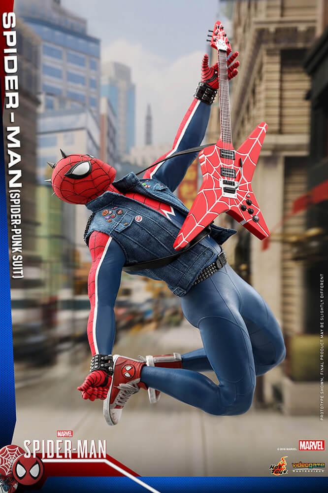 【ビデオゲーム・マスターピース】『Marvel's Spider-Man』1/6スケールフィギュア  スパイダーマン(スパイダー・パンク・スーツ版)