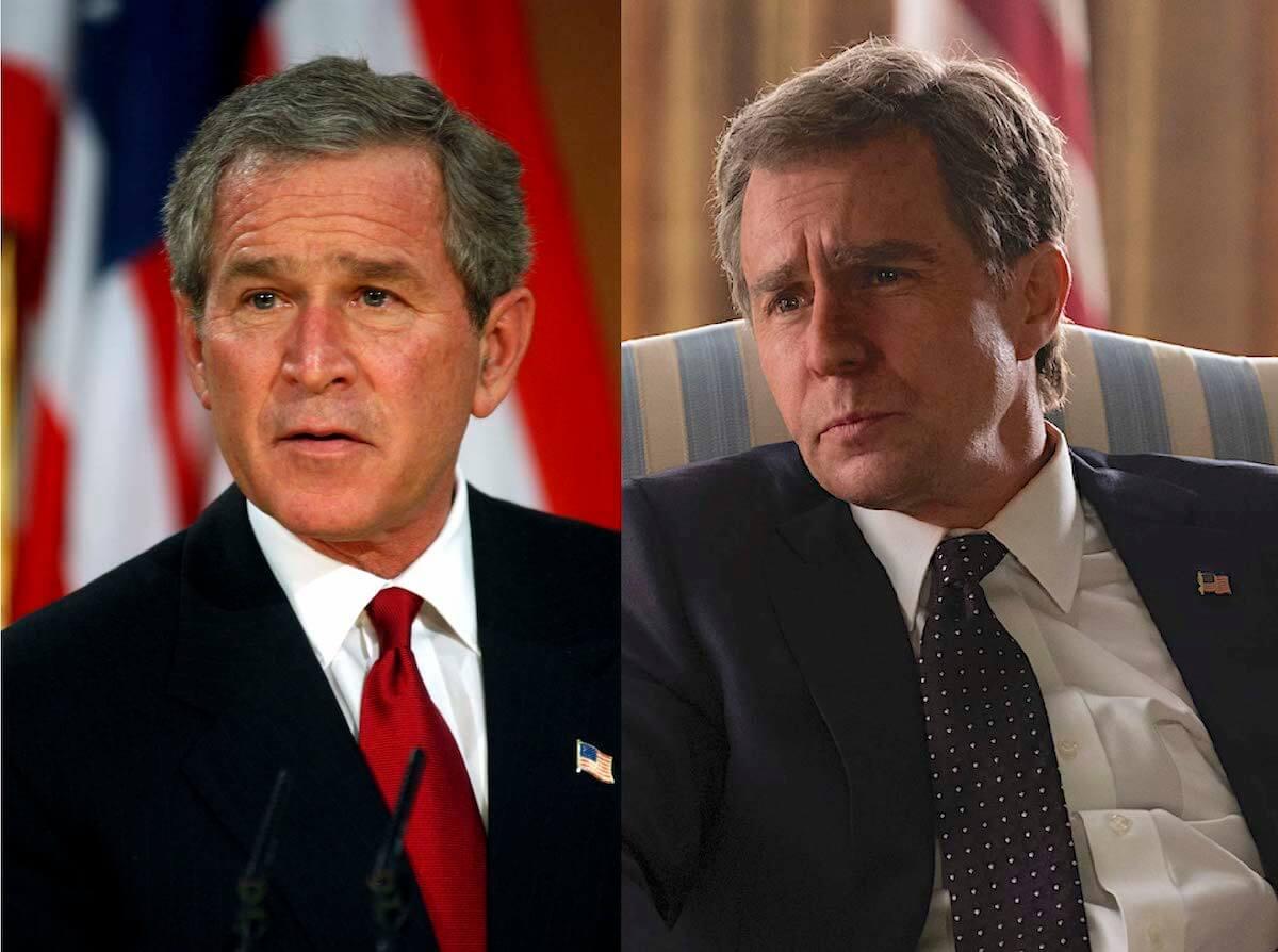 『バイス』ブッシュ大統領とサム・ロックウェル比較