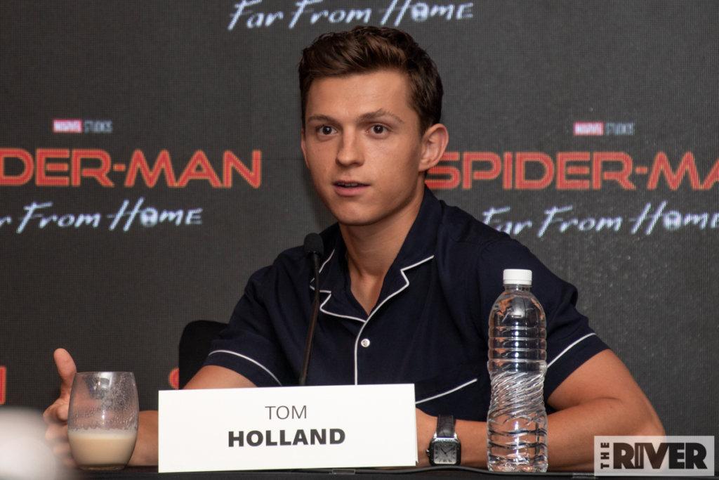 スパイダーマン:ファー・フロム・ホーム バリ 記者会見 トム・ホランド