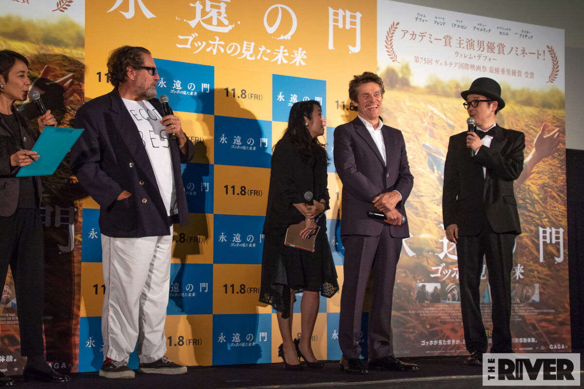 『永遠の門 ゴッホの見た未来』ジャパンプレミア 舞台挨拶