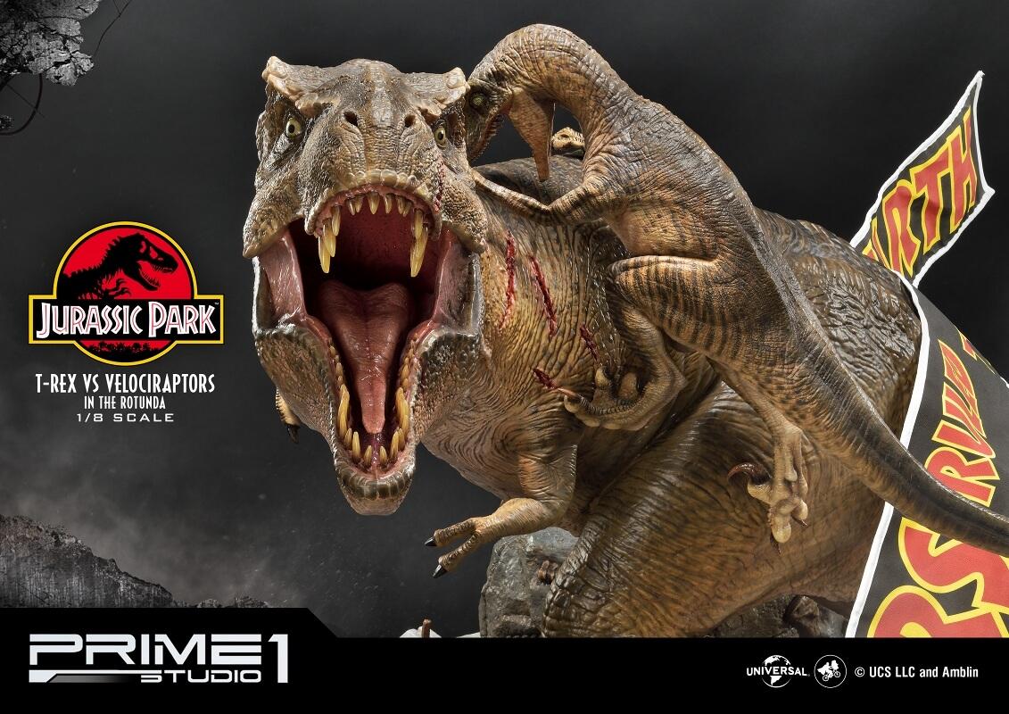 レガシーミュージアムコレクション/ ジュラシック・パーク: T-REX vs ヴェロキラプトル 1/8 スタチュー LMCJP-07