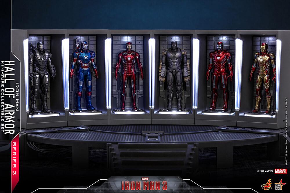 【ムービー・マスターピース COMPACT】 『アイアンマン3』ミニチュア・フィギュア シリーズ2  ホール・オブ・アーマー(6体セット)[ボーナスアクセサリー付き]
