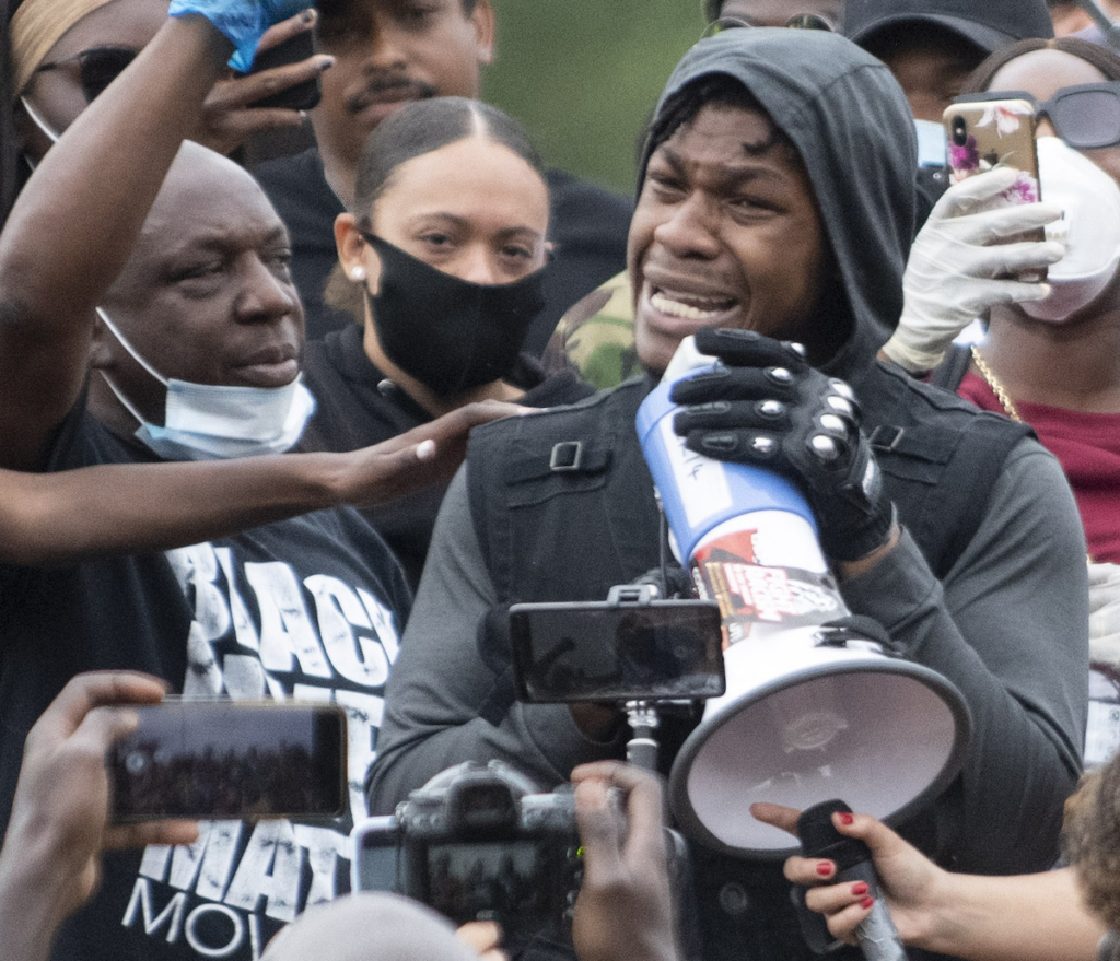 John Boyega Black Lives Matter demonstration in London