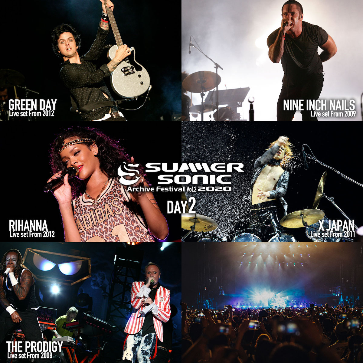 SUMMER SONIC 2020 ARCHIVE FESTIVAL 第2弾配信決定