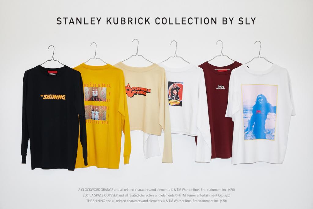 SLY(スライ)スタンリー・キューブリック監督『シャイニング』『時計じかけのオレンジ』『2001年宇宙の旅』とのコラボレーションアイテム