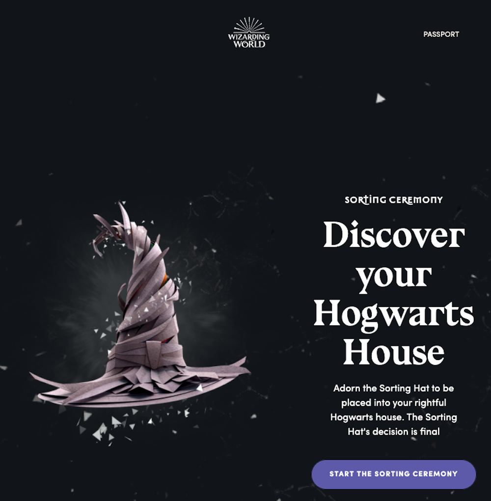 ハリー・ポッター Harry Potter Sorting Hat