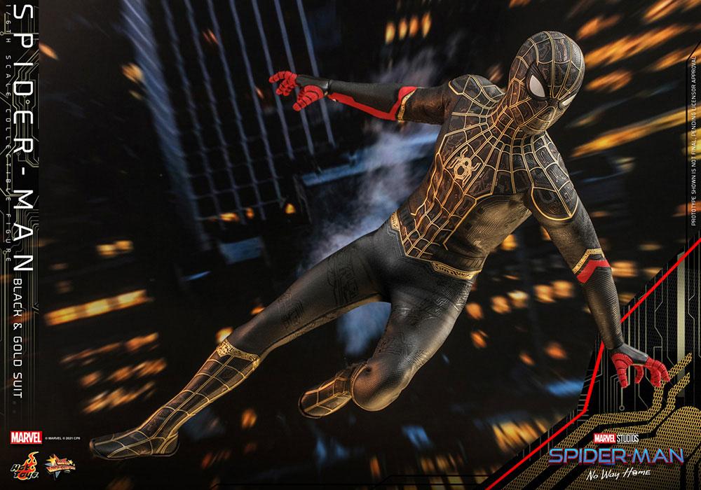 【ムービー・マスターピース】 『スパイダーマン:ノー・ウェイ・ホーム』 1/6スケールフィギュア スパイダーマン(ブラック&ゴールドスーツ版)